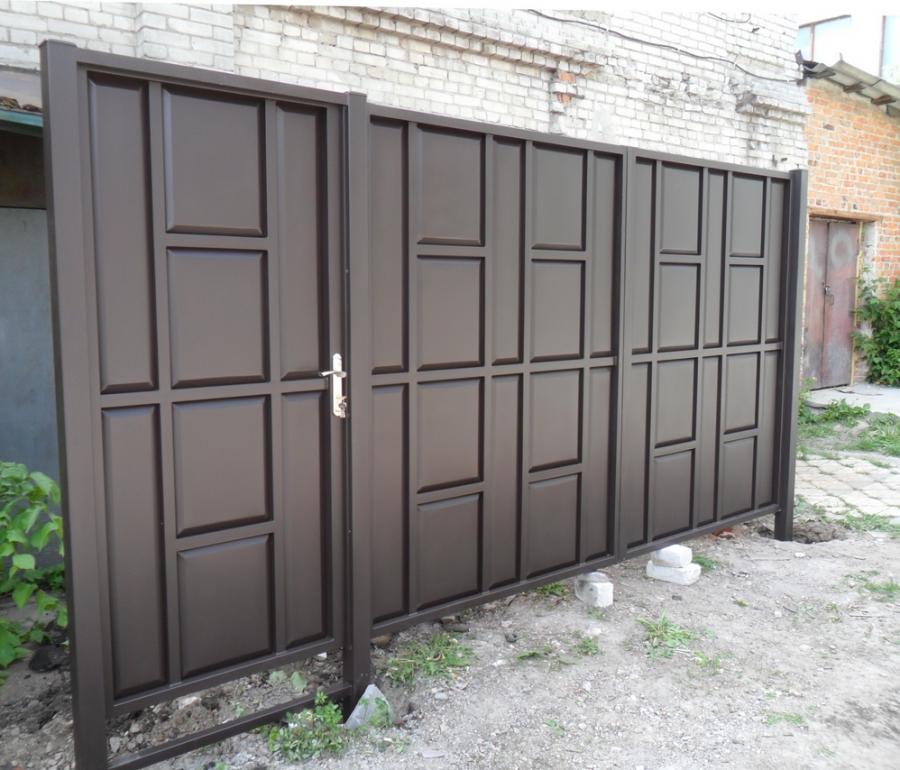 купить ворота с калиткой в харькове цены